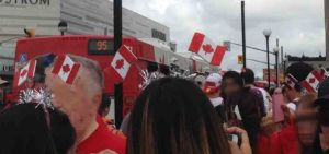 Canada flag headbands
